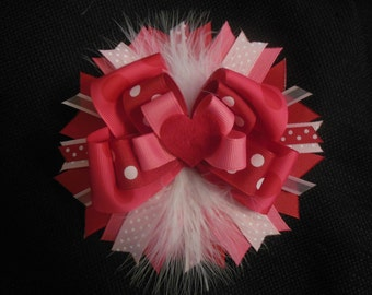 Over the top Valentine's day boutique bow with free headband