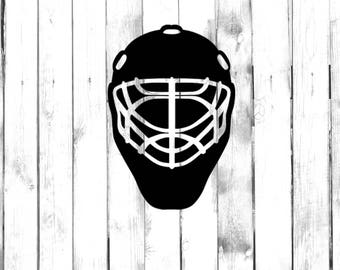 Hockey Goalie Mask - Car/Truck/Home/Phone/Computer Decal