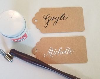 Personalized Calligraphy Gift Tags