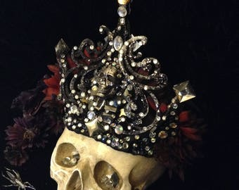 Crown of the Night Queen. Custom made, one of a kind headdress.