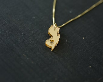 New jersey jewelry etsy gold new jersey necklace aloadofball Image collections