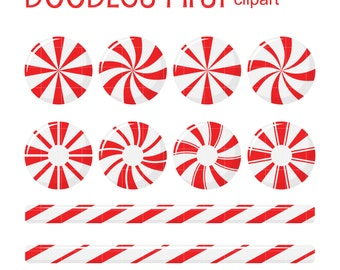 Peppermint Candies Clip Art for Scrapbooking Card Making Cupcake Toppers Paper Crafts