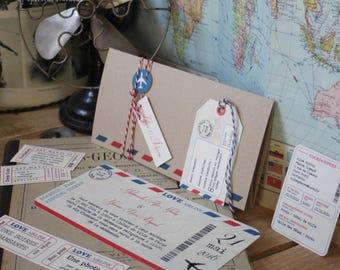 Wedding invitation - LOVE AIR LINE