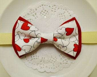 Red Heart bow tie, boy bow tie, baby bow tie, adult bow tie, men's bow tie, Valentine's day bow tie