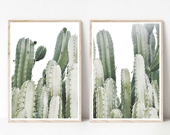 Cactus Set of 2 Print, Instant Art INSTANT DOWNLOAD Printable Wall Decor, Modern Minimalist Poster