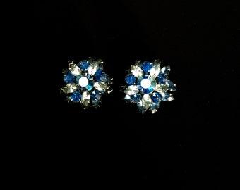 Vintage 50's Julianna Cut Glass Earrings    VG2415