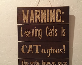 Funny Cat Wall Sign