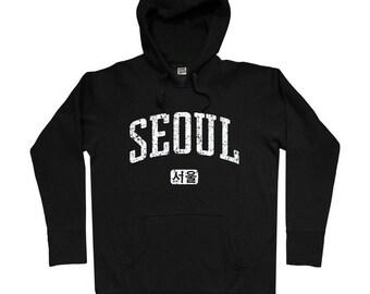 Seoul Hoodie - Men S M L XL 2x 3x - Seoul Korea Hoody Sweatshirt - South Korean - 3 Colors