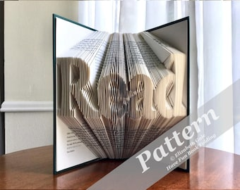 READ Book Folding Pattern -- 195 folds (390 numbered pages). Includes free How-To Guide with 3 free patterns.