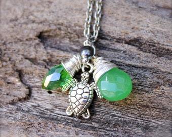 Sea Turtle Necklace made in Hawaii - Hawaiian Jewelry Sea Turtle Jewelry from Hawaii Hawaiian Honu Necklace - Ocean Inspired Hawaii Jewelry