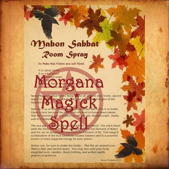Mabon Sabbat Room Spray
