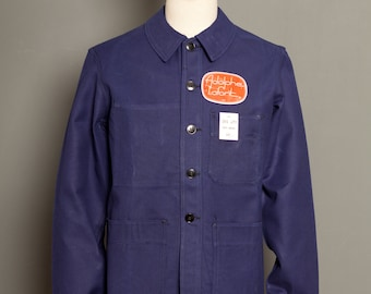 French Adolphe Lafont Blue Work Jacket 60's (M)