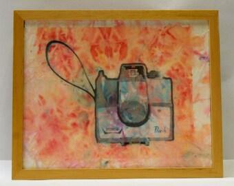 Sale- Canemah Studios Original Mixed Media Imperial Mark Xll camera portrait
