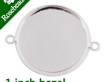 50PCS 25MM/1 Inch Round Bracelet bezel,Silver Plated, fit 25mm round glass cabochon,bracelet blanks C1890