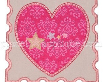 DIY Iron On Applique Patch,  HEART STAMP