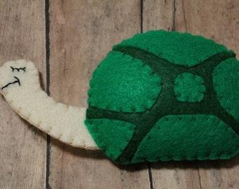 Turtle ornament-Handmade felt turtle-Green Turtle Ornament-Tortoise ornament-