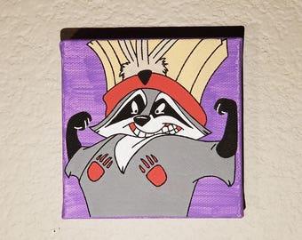 Disney Inspired Meeko Painting from Pocahontas