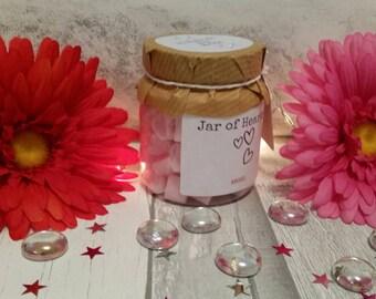 Jar of hearts mini wax melts, mini wax melts, heart wax melts, jar of hearts, wax melts, wax