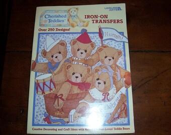 Cherished Teddies Iron On Transfers Book....Leisure Arts...Iron-on Transfer Book...Over 250 Designs..Teddy Bears Iron-On transfers