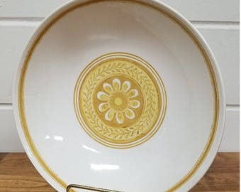 Vintage Dinnerware China Casablanca Cavalier Serving Bowl Retro Yellow Ironstone
