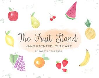 Fruit Clip Art - Watercolor Fruit Clipart - Watercolor Clip Art - watercolor Clip Art