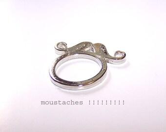 Mustache silver ring