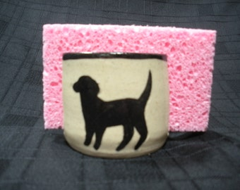 Kitchen Sponge Holder with Dog