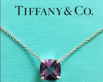 Tiffany & Co. Amethyst Sparkler Pendant Necklace