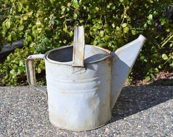 Vintage Galvanized Metal Watering Can