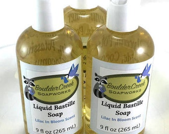 Lilac in Bloom Scented Liquid Bastille Soap