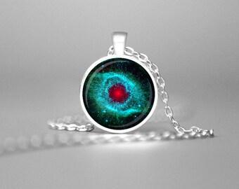 HELIX NEBULA CHARM Necklace Space Jewelry Astronomy Gifts Necklace Astronomy Jewelry Astronomy Necklace Geek Science Gift Nebula Necklace