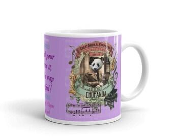 Funny Panda Mug - Classical Music Mug - Gift for Music Lover - Frederic Chopin