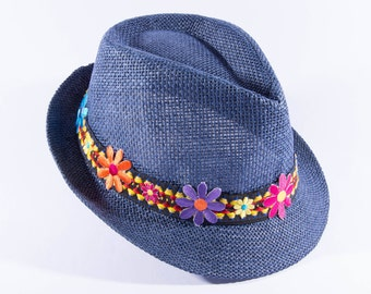"""Beach hat """"Aster"""",fashion trends,woman fedora hat, summer hats, Fashion accessories, summer outfits, hat, woman hats, embellished woman hats"""