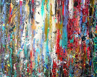 Wild Things in the Woods - Large Painting
