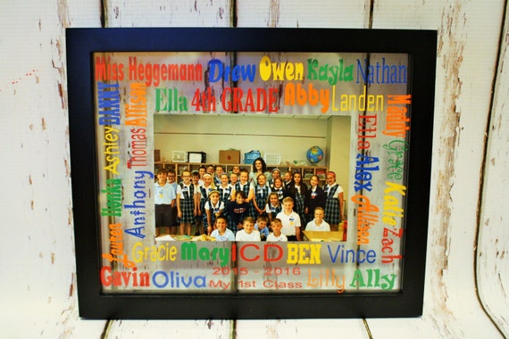 School Words Glass Floating Picture Frame-Teacher Gift, End of the ...