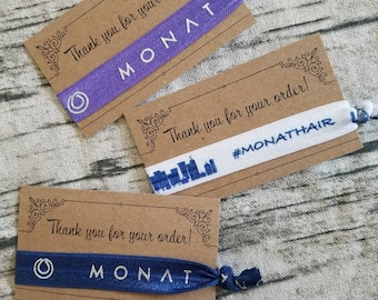 Thank you cards with ties - Set- Monat Inspired