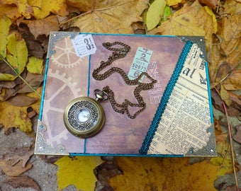 Steampunk pocket watch with gift package