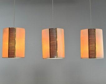 Pendant lights. Hanging lamp lighting. Kitchen island lighting. Modern pendant lighting- made to order