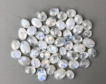 Moonstone Cabochons - 50g Oval Shape Wholesale Parcel Lot 75+ Stones