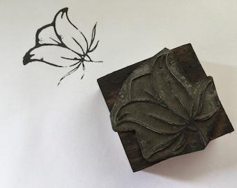 Vintage Embroidery  Stamp ''Flower'', Wooden Printing Stamp Block