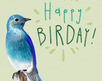 Happy Birday card, blank inside