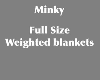 Full size minky weighted blanket Adult 55X72