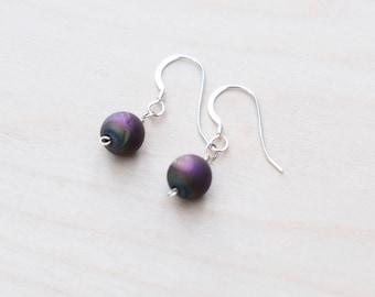 Druzy Earrings, Dangle Earrings, Druzy Stone, Druzy Jewellery, Gemstone Jewellery, Silver Earrings, Boho Earrings, Wire Wrapped Earrings