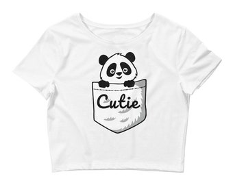 Cutie Panda Women's Crop Tee Custom