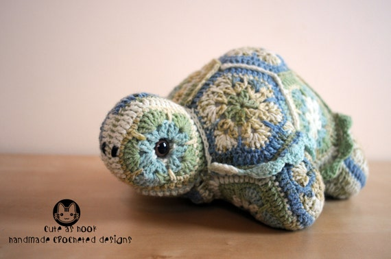 Darwin the African Flower Tortoise Crochet Pattern PDF
