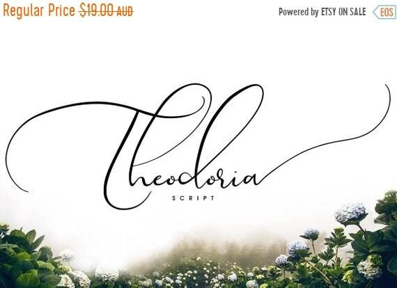 70% OFF Sale Calligraphy Font, Modern Calligraphy, Digital Fonts, Wedding Font, Invitation Font, Script Font, Digital Download, Theodoria