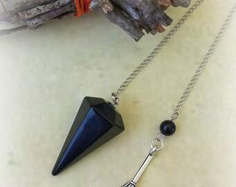Black Obsidian Pendulum, Divination, Witchcraft Supplies, Healing Crystals, Crystal Pendulum, Dowsing Pendulum, Divination Tool, Witch