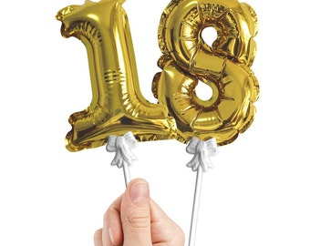 Foil Gold Number 5'' Balloon 0 to 9 Birthday Party