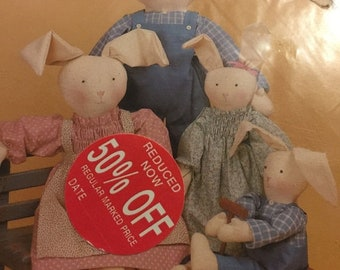 APRILSALE Dream Spinners Country Clover #120 patterns for 3 size rabbits