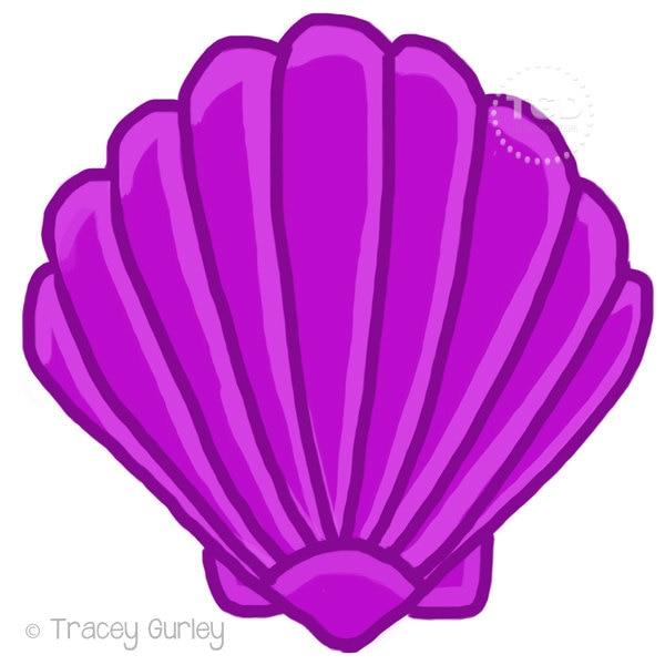 purple scallop shell original art download 2 files scallop rh etsy com Mouse Clip Art White Sprinkle Cupcake Clip Art